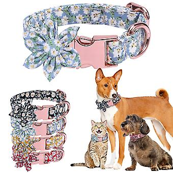 Elegant floral personalized collar Pet Dog Collar Necklace