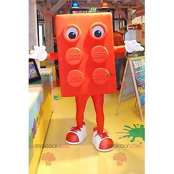 Riesiges orangefarbenes Maskottchen REDBROKOLY.COM Lego