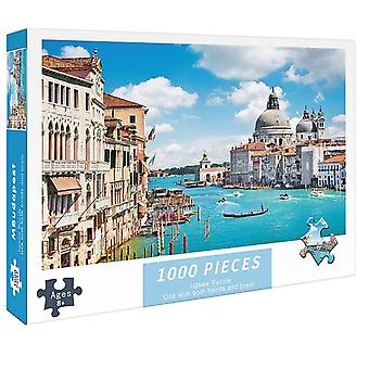 1000 Pieces Jigsaw Intellectual Paper Puzzles Decompressing DIY Game Toys Gift
