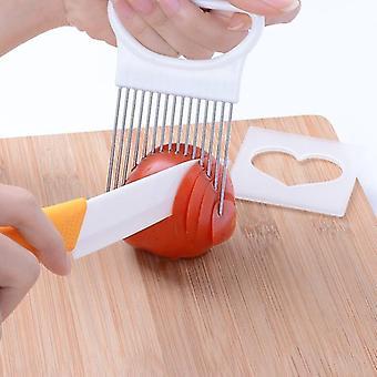 Tomaten Zwiebel Gemüse Slicer Schneidewerkzeug/Halter