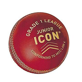 Gunn & Moore GM cricket ikon klasse 1 liga ball hånd sydd skinn - rød