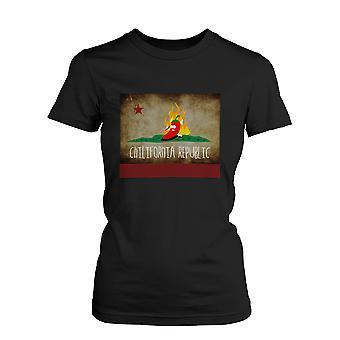 Mannen Chilli Chilifornia Republiek-Funny grafisch zwart T-Shirt