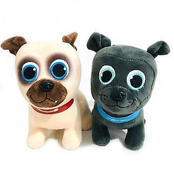 Animales de peluche 2pcs / lote 20cm cachorro perro amigos juguetes de peluche bingo y juguetes de peluche de perro de animales enrollados muñecas de peluche suave para cumpleaños bebé regalos de navidad