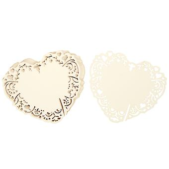 Vintage Romance - Laser Cut Place Card For Glass - Ivory