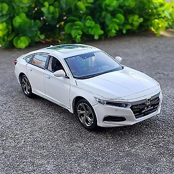 Toy cars 1:32 honda accord model die casting model sound and light car children's toy collectible white