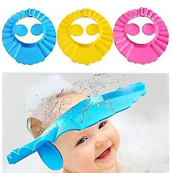 Dusj caps homemiyn barn dusj cap bading cap med ørebeskyttelse myk justerbar visir lue sikker sjampo