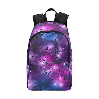 Laptop backpack (nylon) - watercolor marble galaxy #2