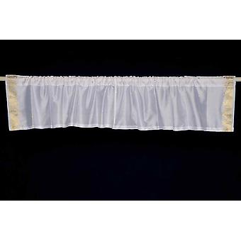White Gold - Rod Pocket Top It Off handmade Sari Valance - Pair
