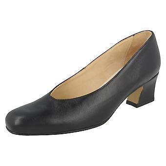 Ladies Nil Simile Smart Square Front Shoes Bizet