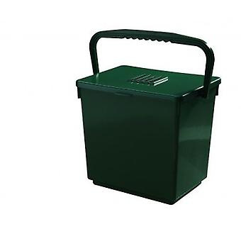 30 L Jumbo lugt gratis kompost Caddy spand affald håndtere fordøjelsesvæsken grøn