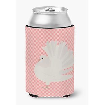 Fantail argento piccione rosa Check lattina o bottiglia Hugger