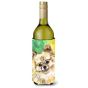 Pomeranian Sissy Wine Bottle beverage Insulator Hugger