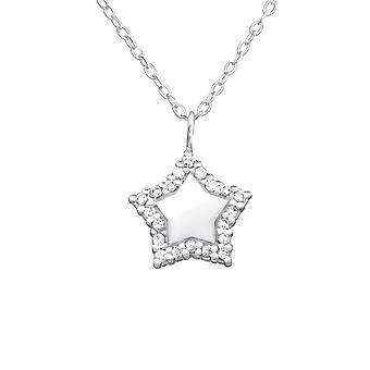 Star - 925 Sterling Zilver Jewelled kettingen - W32083X