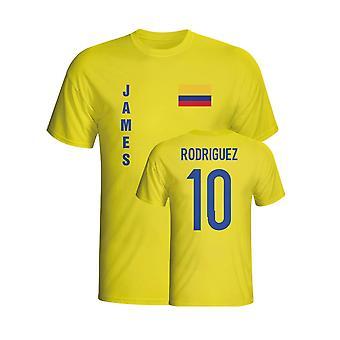 James Rodríguez Colômbia bandeira t-shirt (amarelo) - crianças