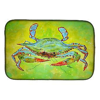 Carolines Treasures  8357DDM Bright Green Blue Crab Dish Drying Mat