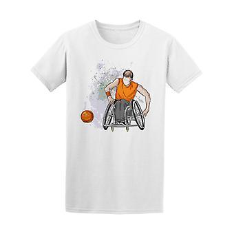 Basketball en fauteuil roulant handicapé Tee homme-Image de Shutterstock