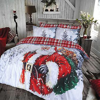 Pieridae Vintage Father Christmas Duvet Cover Quilt Cover Bedding Set