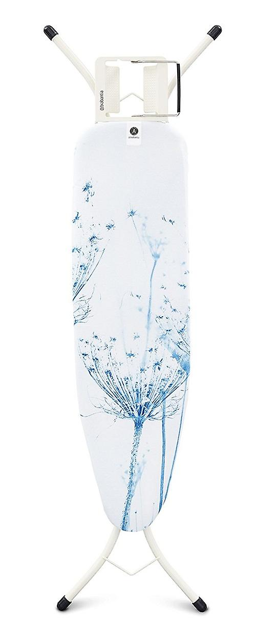 Brabantia Ironing Board with Steam Iron Rest Slimline Size A Cotton Flower