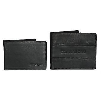 2 billabong skinn lommebøker med RFID beskyttelse ~ Tribong svart