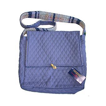 Lilas Quilted & Laine Shoulder Bag Recyclé aléatoire