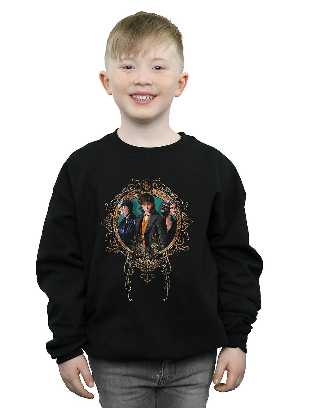 Fantastic Beasts Boys Tina, Newt And Leta Sweatshirt