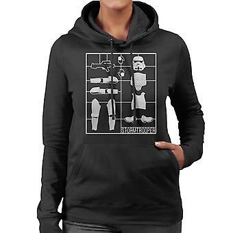 Felpa con cappuccio originale Stormtrooper Airfix donne
