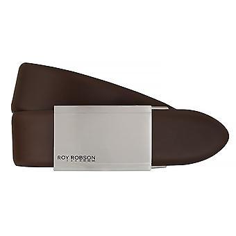 ROY ROBSON belts men's belts leather belt automatic buckle Brown 7613