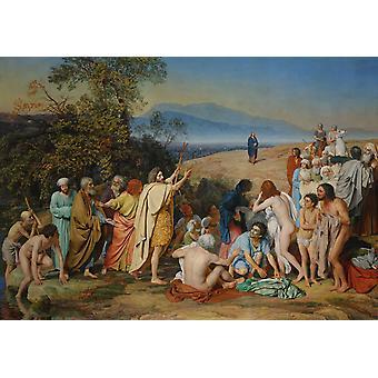 הופעתו של ישו לעם, אלכסנדר איבנוב, 60x40cm