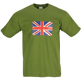 Nieuwe Union Jack Britse vlag afgedrukt World Cup T-Shirt