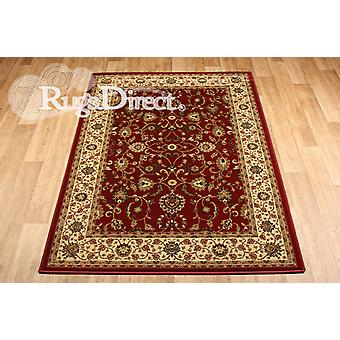 Kendra 137 R Red background with a traditional floral  Rectangle Rugs Traditional Rugs