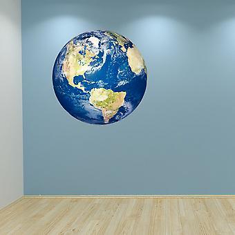 Full farge planeten jorden Wall klistremerke