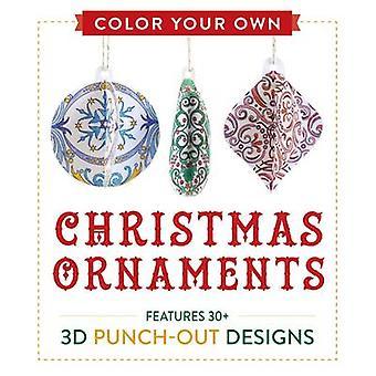 Kleur je eigen Kerst ornamenten - biedt 50 3D Punch-Out ontwerpen