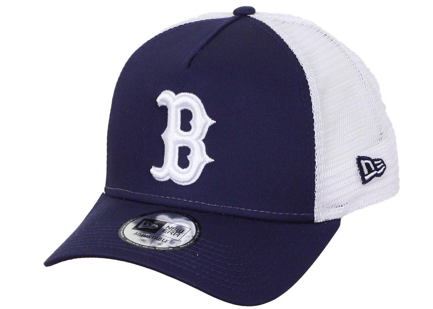 New Era League Essential Adjustable Trucker Cap ~ Boston Red Sox