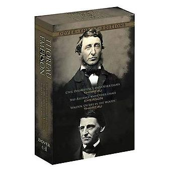 Thoreau and Emerson Boxed Set: Classic Works (Dover Thrift Editions)
