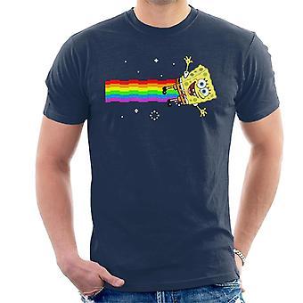SpongeBob Squarepants Nyan Cat Meme mannen T-Shirt