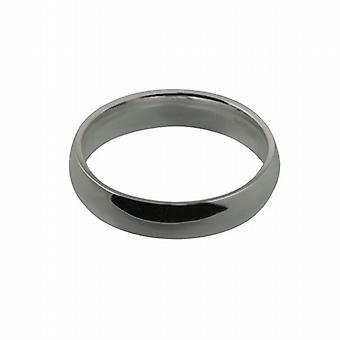 Platin 5mm almindelig domstol formet Wedding Ring størrelse Z