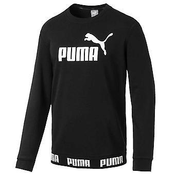 Puma amplifié Fleece équipage Mens Fashion sweat Shirt Black