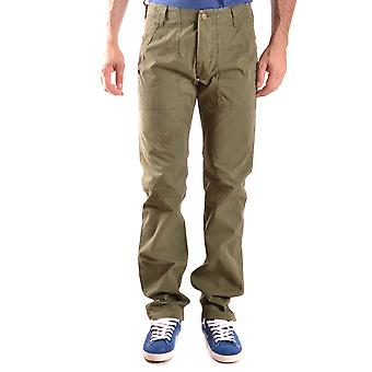 Daniele Alessandrini Ezbc107162 Men's Green Cotton Pants