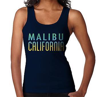 Colete de Malibu céu ensolarado texto feminino