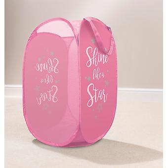 Country Club Kids Pop Up Laundry Basket, Shine Like a Star