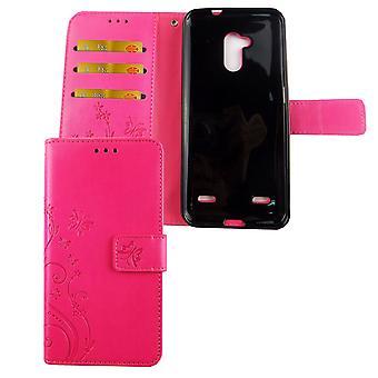 Nokia 8.1 / Nokia X7 Telefon fall Skyddsfodral Omslag Flip case kort fack rosa