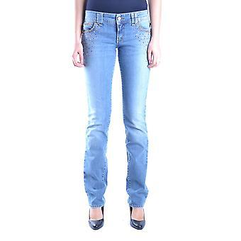 John Galliano Ezbc164053 Women's Light Blue Denim Jeans