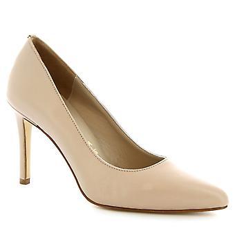 Leonardo sko kvinner håndlaget klassiske stiletto pumper i beige okseskinn