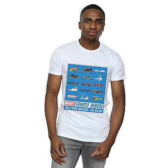 Marvel Men's Vehicle Rentals Colour T-Shirt