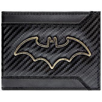 DC Batman Gold Outline Badge ID & Card Bi-Fold Wallet