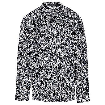 Maison Scotch Animal Print Long Sleeve Shirt