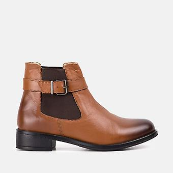 Bethany tan leather chelsea boot