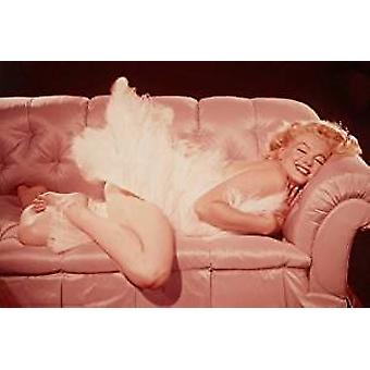 Poster - Marilyn Monroe - Couch - Wall Art P1431