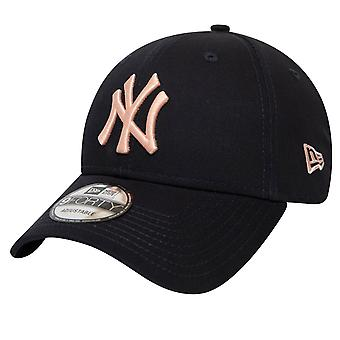 New era 9Forty Cap-MLB New York Yankees preto/rosa
