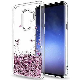 Galaxy S9-vloeibare glitter 3D bling shell geval